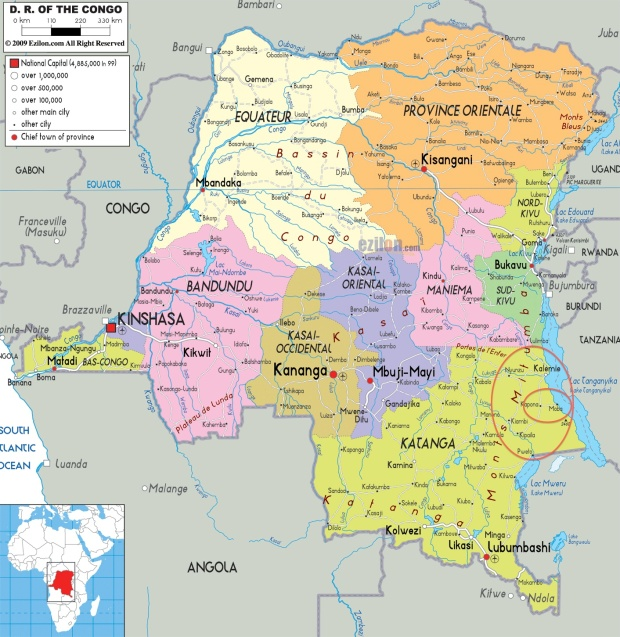 DRC Political Map